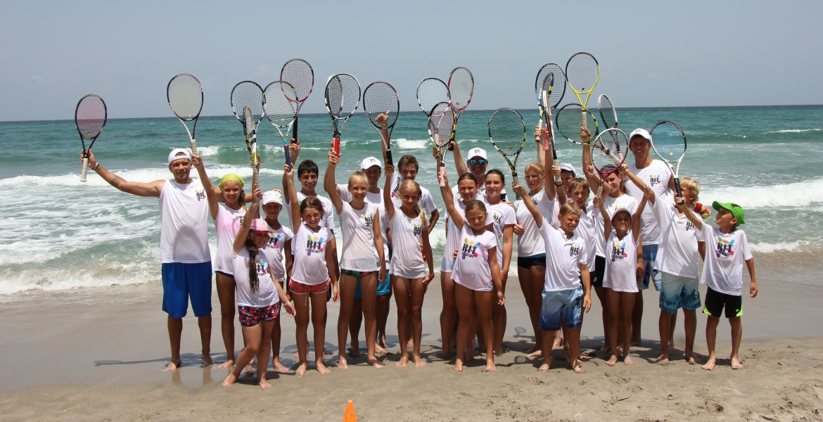 Tennis Camps Summer HIT posing Beach