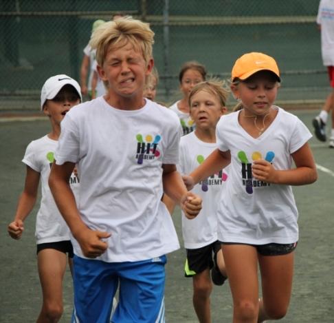 Tennis Training hit training