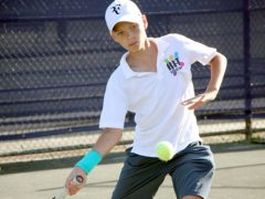 florida tennis academy showing skills