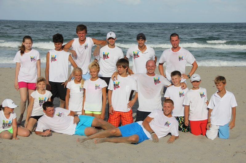 International Tennis Academy fun in beach