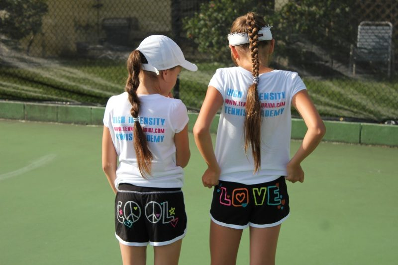 Tennis Academy in Florida kids posing