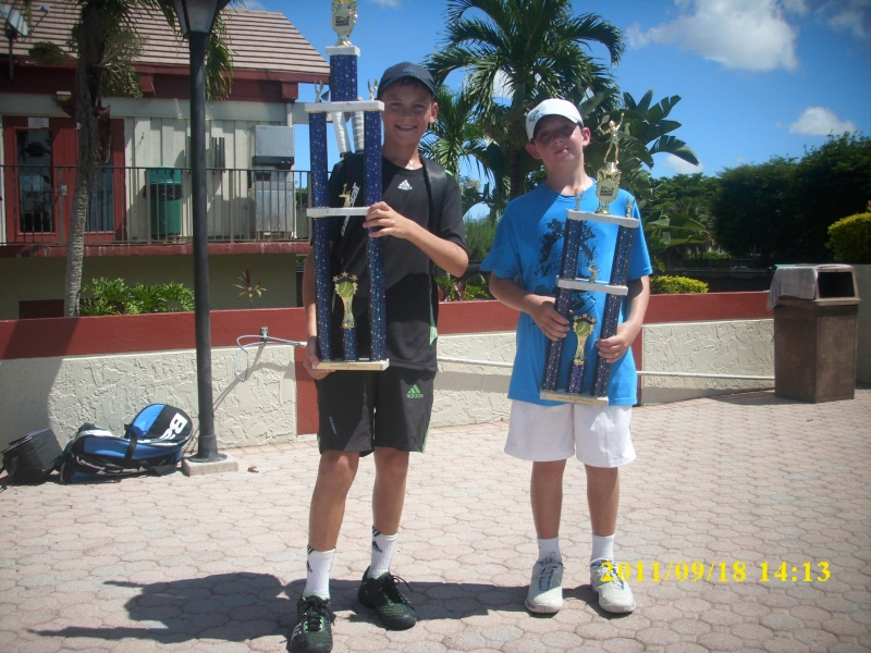 Tennis Academy players with their trophy