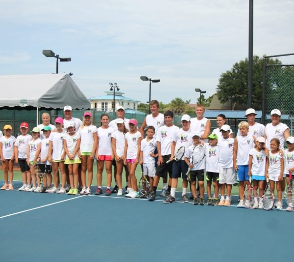 Tennis Camp in Florida group picture