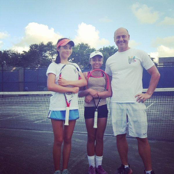 Tennis Camps picture with coach