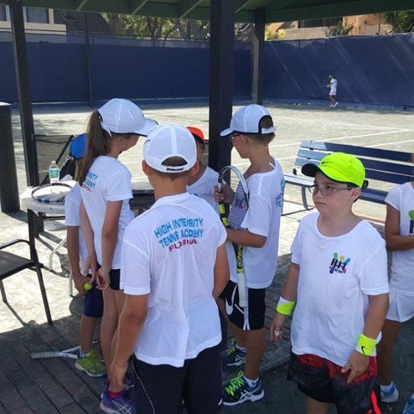 Tennis School kids playing
