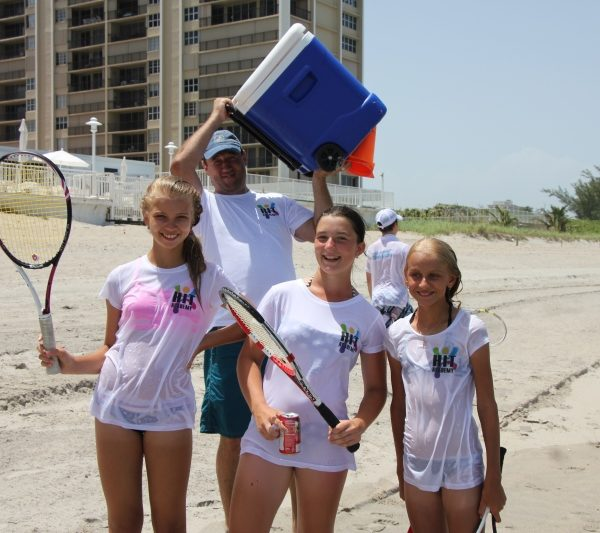 Tennis Tution fun on the beach
