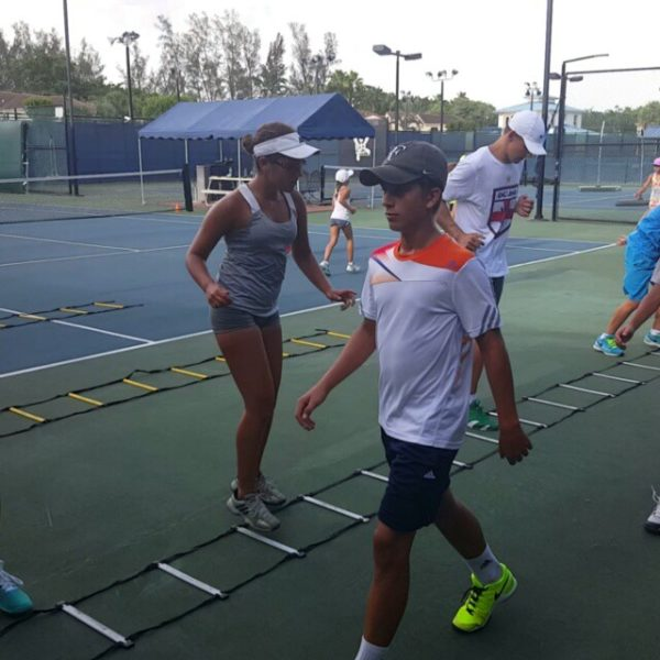 Tennis Tuition warm up game